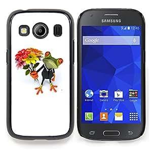 Stuss Case / Funda Carcasa protectora - San Valentín Rana Blanca Día Blanco - Samsung Galaxy Ace Style LTE/ G357