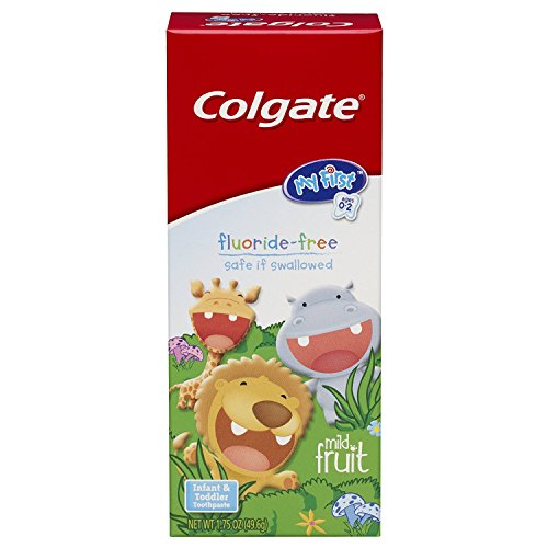 Colgate My First Baby and Toddler Toothpaste, Fluoride Free – 1.75 ounce (6 Pack)