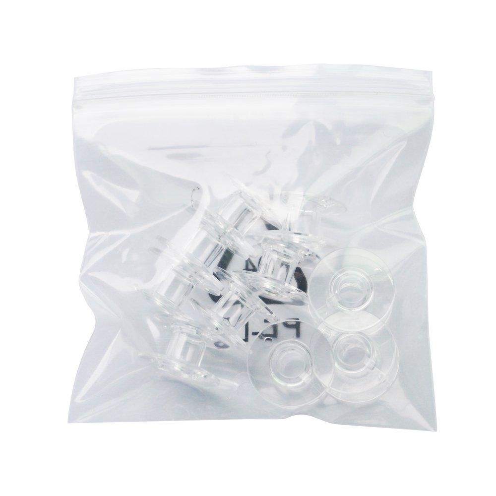 R 10 x canettes de machine /¨/¤ coudre//bobines de fil plastiques transparentes SODIAL