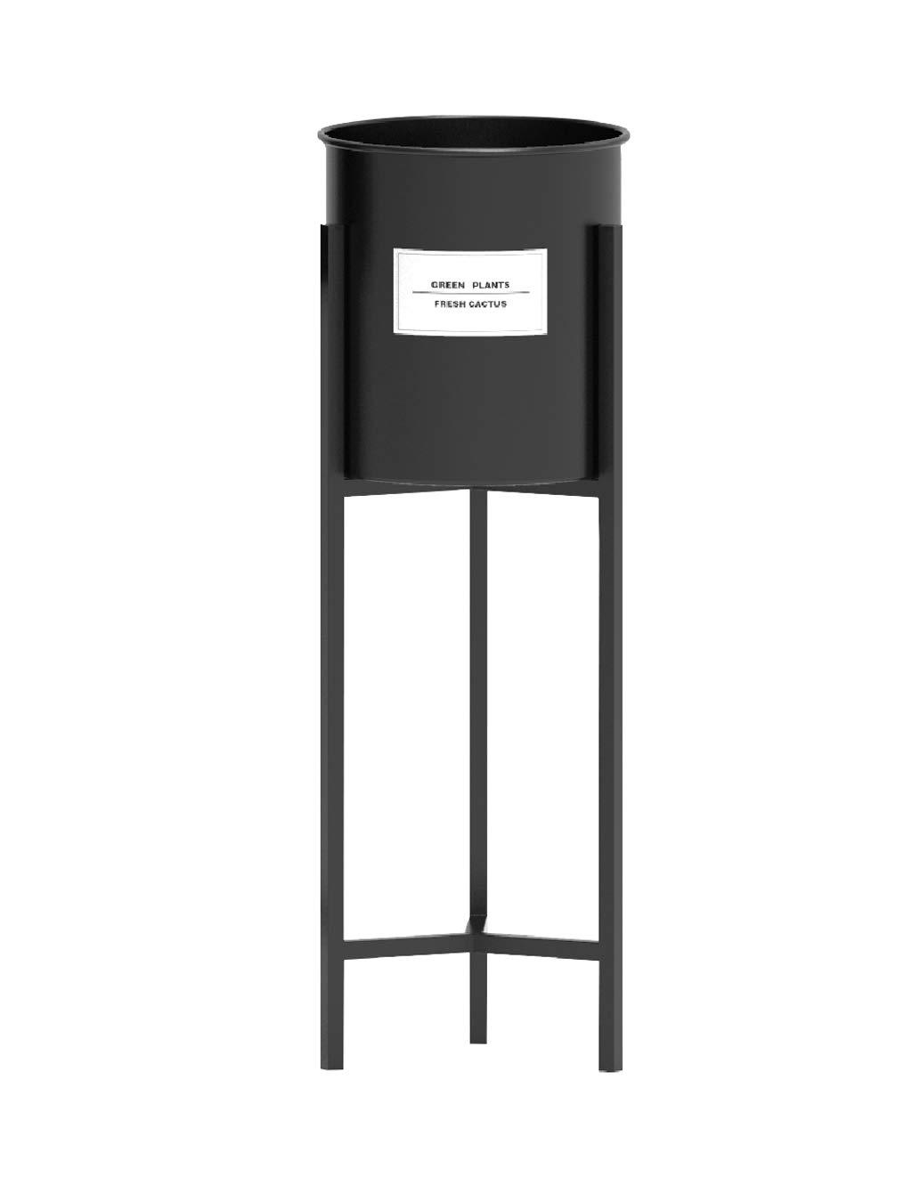 Portabottiglie retrò con pianta Alta in Metallo Porta vasi da Fiori Supporto per espositore per Interni Balcone Esterno Patio Decor Heavy Duty in Nero