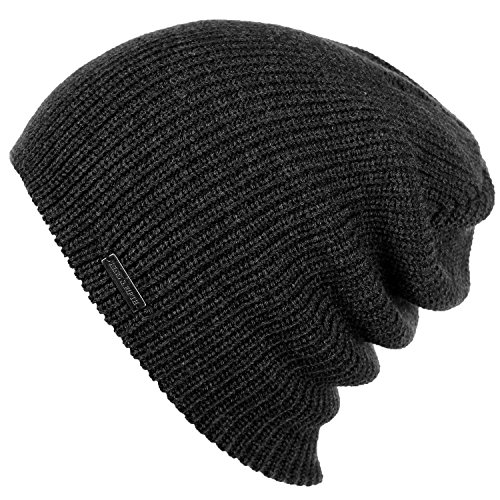 Slouchy Beanie For Men & Women by King & Fifth | Premium Quality and Stylish + Warm Winter Hat Charcoal Grey