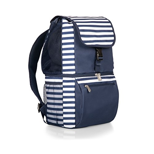 ONIVA - a Picnic Time Brand Zuma Insulated Cooler Backpack, Navy/White Stripes