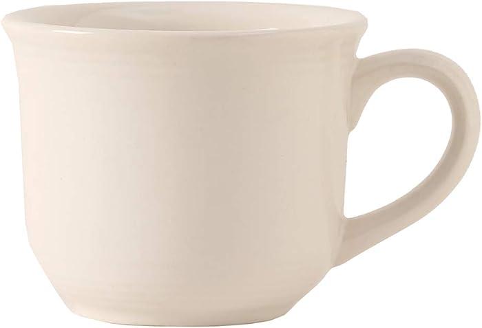 Tuxton Home Concentrix 8 oz Round Cup, Mug, Set of 6, White