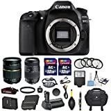 Canon EOS 80D 24.2MP Digital SLR DSLR Camera Bundle with Tamron AF 28-75mm f/2.8 Autofocus Lens & Tamron Auto Focus 70-300mm f/4.0-5.6 Di LD + Accessory Kit (17 items)