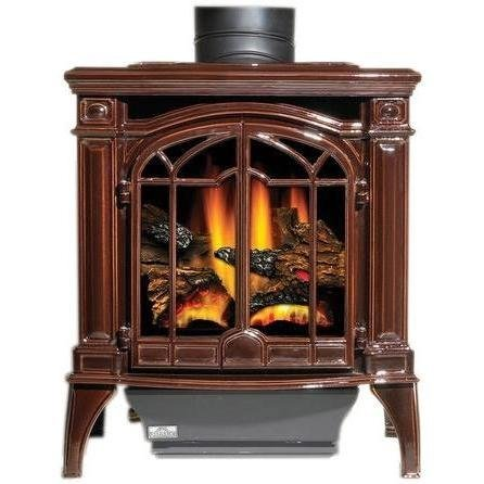 Napoleon Gds25 Bayfield Cast Iron Natural Gas Stove - Majolica Brown by Napoleon