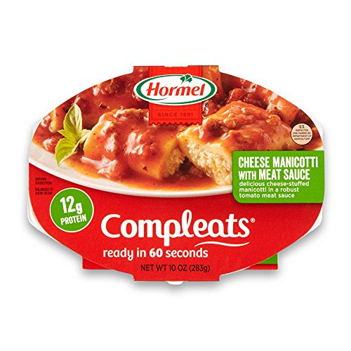 - Hormel Compleats Cheese Manicotti with Meat Sauce, 10 Ounce