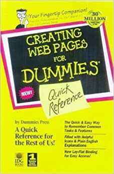 Creating Web Pages for Dummies: Quick Reference by Lowe, Doug (1998)