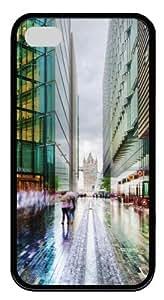 Business In London Custom Designer TPU Silicone Case Cover for iPhone 4/4S ¡§CBlack