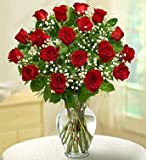 Rose Elegance Premium Long Stem Red Roses 18 Stem Red Roses by 1-800 Flowers