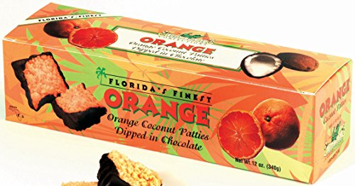 Orange Flavored Coconut Patties Dipped in Chocolate