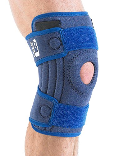 Neo G Knee Brace, Stabilized Open Patella - Support For Arthritis, Joint Pain, Meniscus Tear, ACL, Running, Basketball, Skiing – Adjustable Compression – Class 1 Medical Device – One Size – Blue by Neo-G