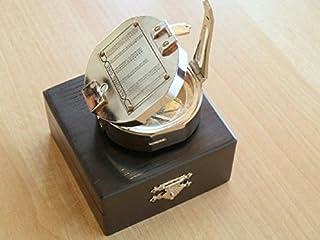 Brujula compas laton en caja nautica