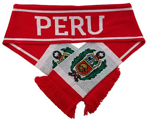 RUFFNECK National Soccer Team Peru Scarf, Red, One Size