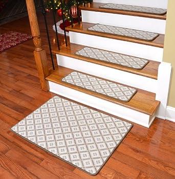 Dean Premium Wilton Woven Wool Carpet Stair Treads   Mendocino Cremerie  (13) PLUS A