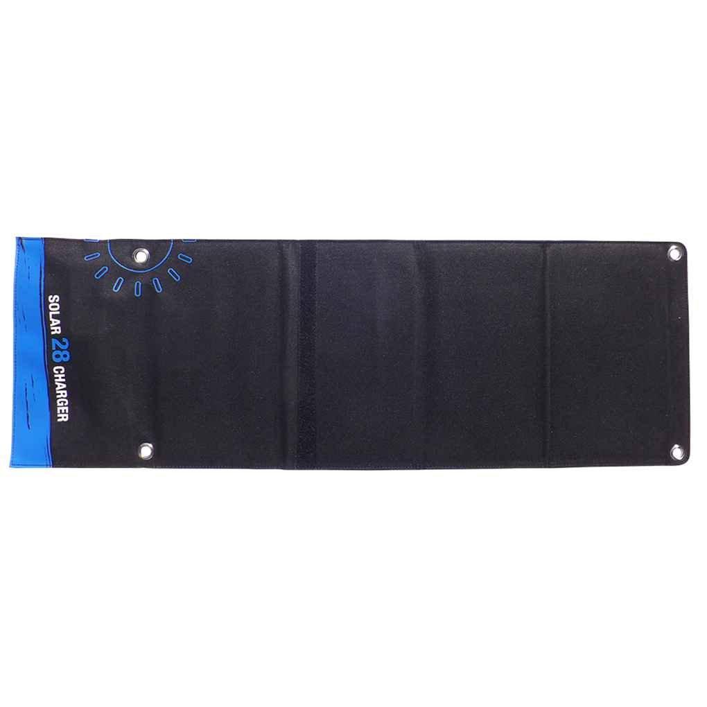Plzlm 3 Puertos USB Cargador de bater/ía del tel/éfono Celular 28W Cargador Solar del m/ódulo del Panel generador de energ/ía Solar para Acampar al Aire Libre Senderismo