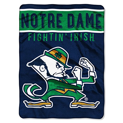 The Northwest Company Officially Licensed NCAA Notre Dame Fightin Irish Basic Raschel Throw Blanket, 60