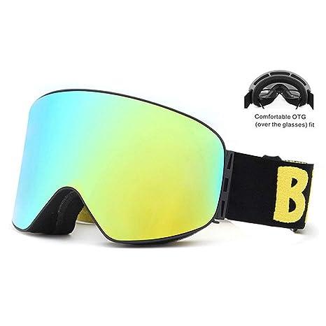 SPTHY OTG Ski Snowboard Goggles - Gafas De Nieve con Lentes De ...
