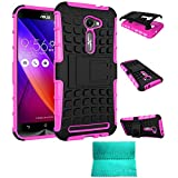 ZenFone 2E Case,Moment Dextrad *NEW*[Non-Slip][Perfect Fit][Stand Feature]Dual Layer Armor Defender Case ONLY for ASUS Zenfone 2 ZE500CL 5.0-inch (Pink)
