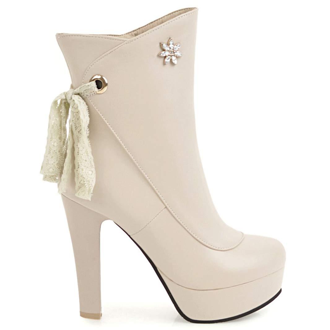 Mavirs Womens Macirc Ankle-high Block Heel Ankle-high Macirc 11.5 cm Boots B07GLXPGLP Boots 247e8c