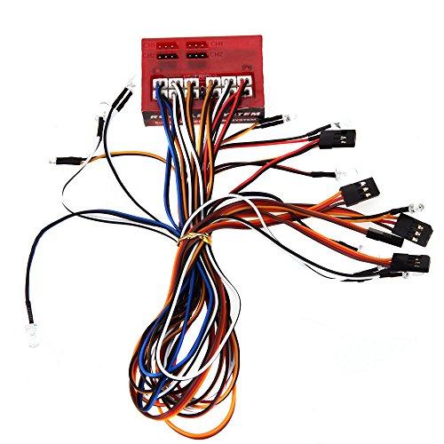 GoolRC AX-003 多機能 LED ランプ ライト 1/10 1/8 RC HSP トラクサス タミヤ CC01 4WD 軸 SCX10 モデル車用
