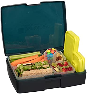 Bentology Leak Proof Bento Lunch Box With 5 Removable Containers,  Translucent Midnight