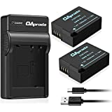 Fully Decoded OAproda DMW-BLC12 Battery (2 Pack) and Micro USB Charger for Panasonic DMW-BLC12E, DMW-BLC12PP, Lumix DMC-FZ200, DMC-FZ1000, DMC-G5, DMC-G6, DMC-G7, DMC-GX8, DMC-G85, DMC-GH2, DMC-FZ300K