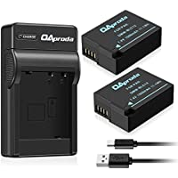 Fully Decoded OAproda DMW-BLC12 Battery (2 Pack) and Micro USB Battery Charger for Panasonic DMW-BLC12E, DMW-BLC12PP, and Lumix DMC-FZ200, DMC-FZ1000, DMC-G5, DMC-G6, DMC-G7, DMC-GX8, DMC-G85, DMC-GH2