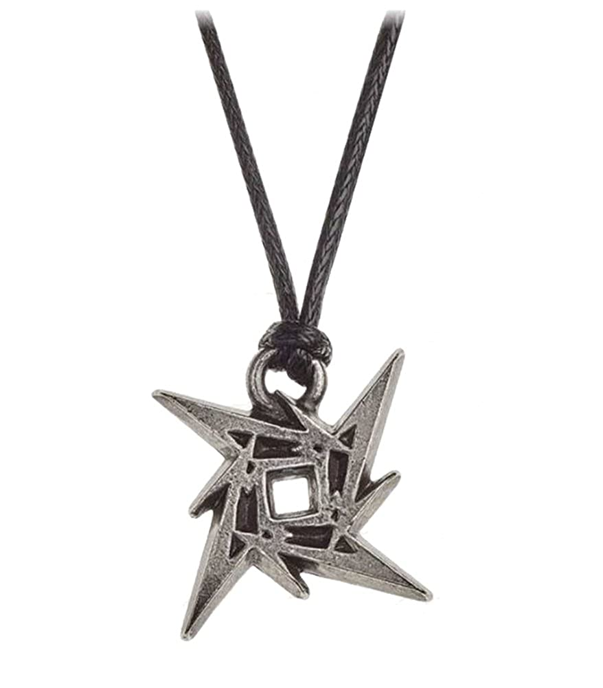 Amazon.com: Metallica Necklace Pendant Ninja Star Band Logo ...