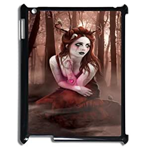 Ipad2,3,4 Gothic girl Phone Back Case Art Print Design Hard Shell Protection LK020043