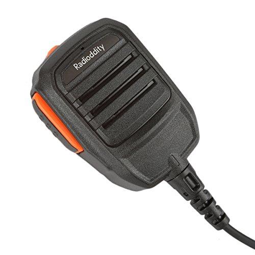 Radioddity Waterproof Remote Speaker Mic for Radioddity GD-55 Plus DMR Digital Mobile Radio Two-Way Radio Walkie Talkie ()