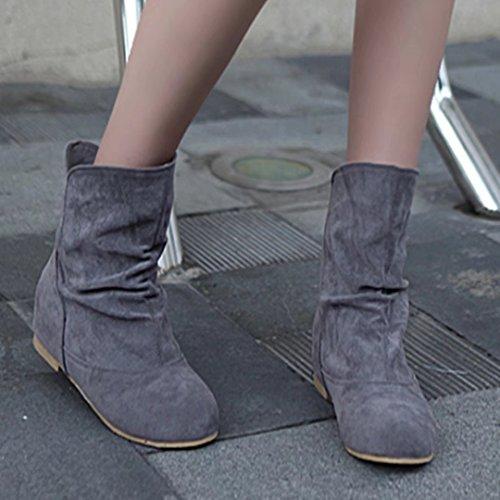 AIYOUMEI Women's Classic Boot Grey N6MUhi