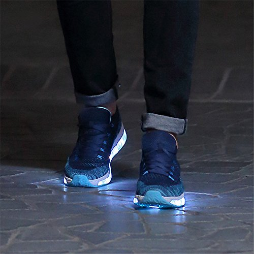 Enfants YMY Charge pour USB Les Et Les LED Shoes Bleu Unisexe Femmes Light Hommes L'adulte Et CqRr1qd