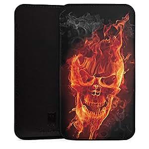 Huawei Mate S Funda Sleeve Carcasa Black–Burning Skull