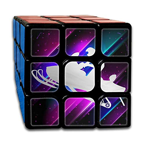 Puzzle Party Toy, Mini Puzzles Birthday Party Favors for Kids Boys Girls, Platinum Snowmobile Motorbike Silhouette 3x3 Smooth Speed Magic Puzzles Cube Magic Cube Puzzles Puzzles Toys