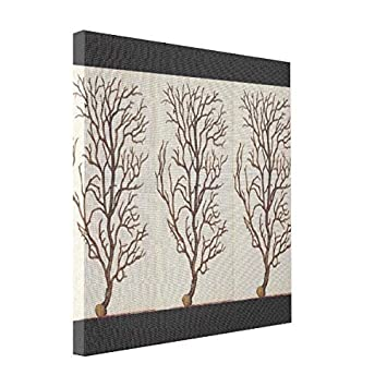 VetiVer Pre Stretched Canvas Vintage Sea Coral Drawing Art Canvas Black  White