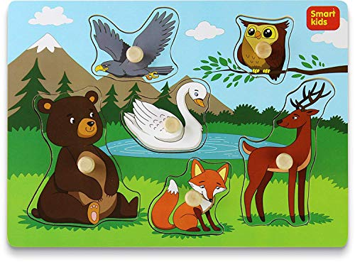 Toddler Puzzles Set Forest Animals -