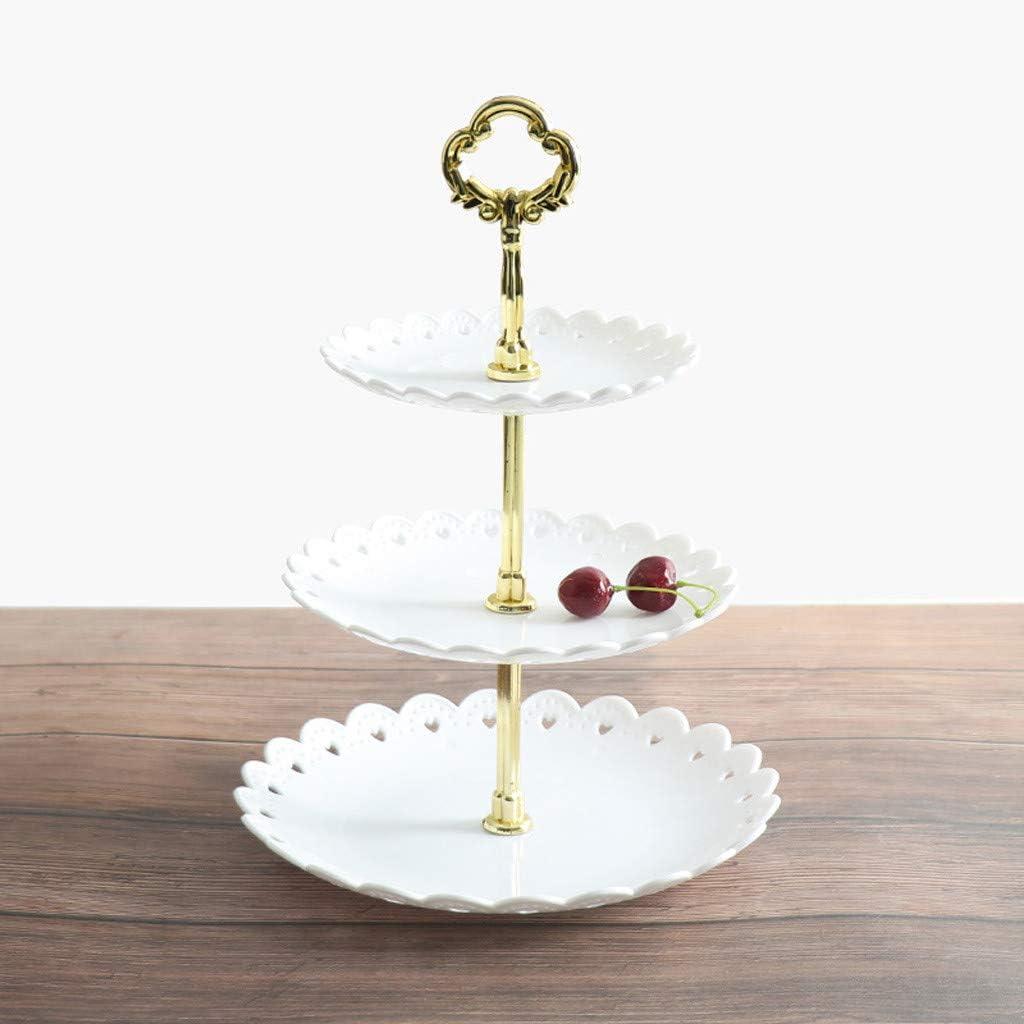 3-Tier Cupcake Stand Cake Dessert Wedding Party Display Round Plate