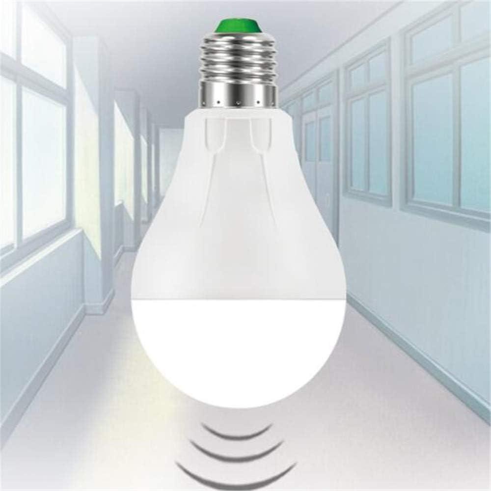 La bombilla del sensor led no se enciende durante el día bombilla de inducción del microondas pasillo del corredor pasillo humano cuerpo bombilla lámpara de inducción 3000 K (blanco cálido) 7: Amazon.es: