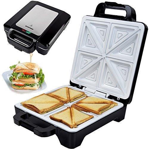 Syntrox Germany 1600 W XLC Sandwich Maker avec revê tement en cé ramique pour la fabrication de 4 croque-monsieurs