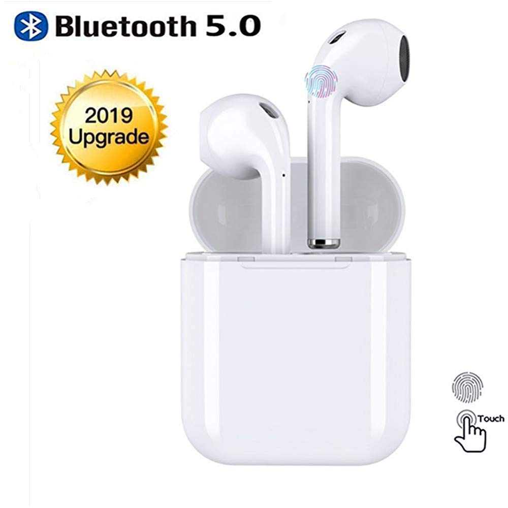 Bluetooth 5.0 Wireless Earbuds,TWS Wireless Earbud Headphones with Charging Case,3D Stereo Sound in-Ear Headsets Sports Running Headphones Compatible for airpods Android/iPhone by mickeyfung