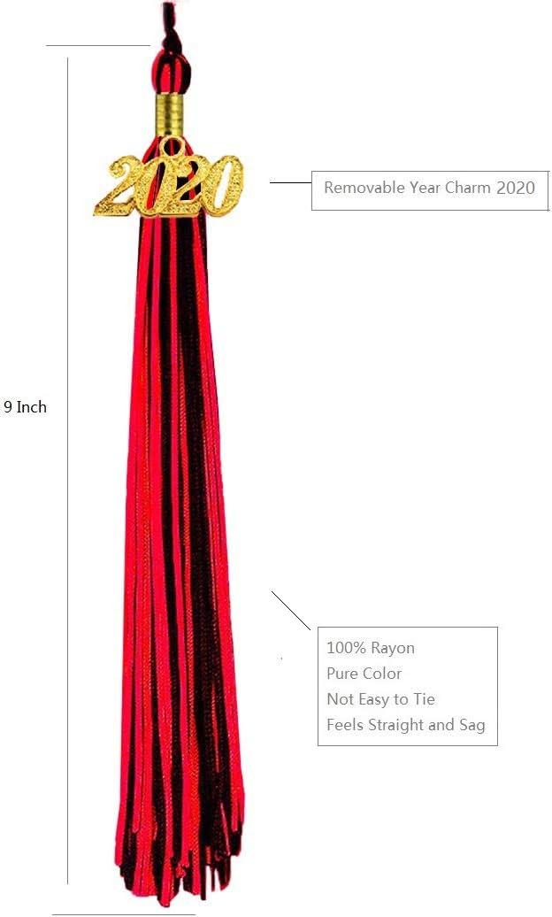 HEPNA Uniforms Graduation Cap Tassel for Graduation Photo,Double Color Navy Blue//Gold 2020 Update