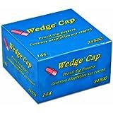 Dixon Wedge Pencil Cap Erasers, Box of 144, Pink (34500)