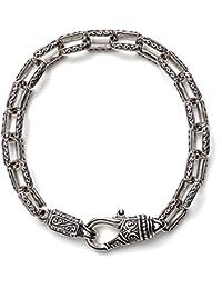 Men's 8.25 Inch Silver Rectangle Link Bracelet