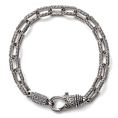 (Konstantino Men's Sterling Silver Etched Link Bracelet)