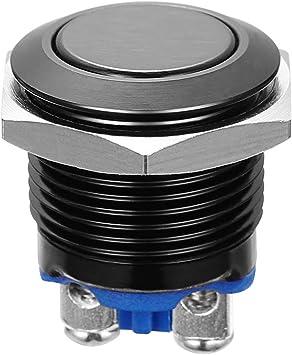 Winomo 16mm Druckschalter Schalter Druckknopf Ein Ausschalter Drucktaster Für Auto Kfz Schwarz Baumarkt