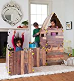 Fantasy Fort Kit Pretend Play Construction Building Set Indoor Playhouse Heavy Duty Faux Wood Panels Each Panel 22 x 22...