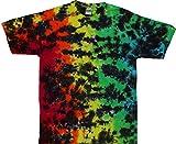 Tie Dyed Shop Rainbow Crackle Tie Dye T Shirt-Large-Multicolor offers