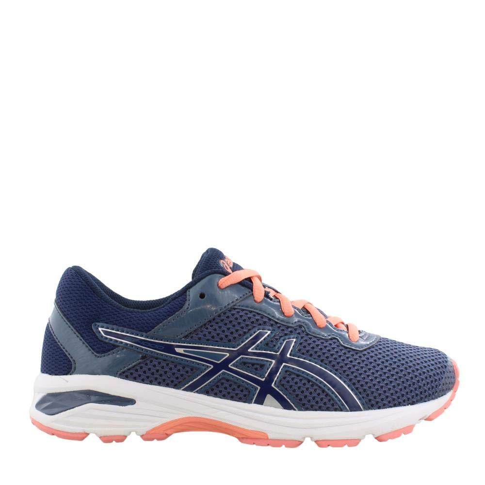 ASICS GT-1000 6 GS Kid's Running Shoe. Smoke Blue/Indigo Blue/Begonia Pink, 6 M US Big Kid