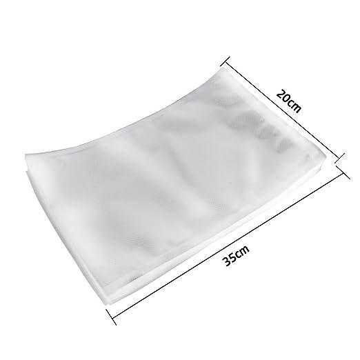 50 pieza bolsas para alimentos pantalla al vacío 20 x 30 cm ...