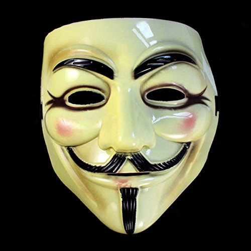 Baomabao Cool Halloween Masquerade Face Mask V For Vendetta Guy Fawkes Fancy Dress Party by (Halloween Zombie Makeup For Guys)